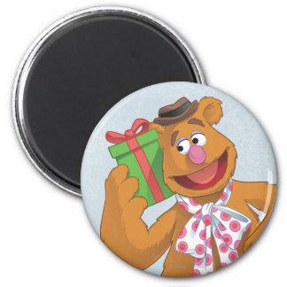 Día de fiesta Fozzie el oso Imán Redondo 5 Cm