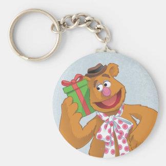 Día de fiesta Fozzie el oso Llavero Redondo Tipo Pin