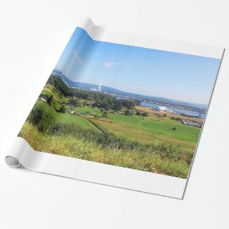 Día de fiesta hermoso de la fotografía del papel de regalo