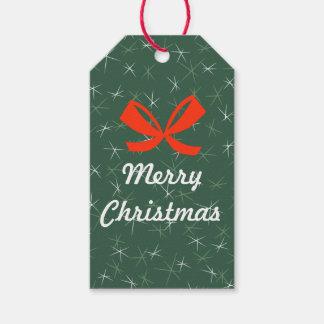 Día de fiesta hermoso de las Felices Navidad Etiquetas Para Regalos