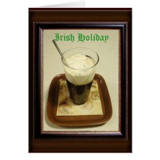 Día de fiesta irlandés felicitación
