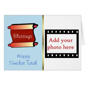 Día de fiesta judío de la tarjeta de la foto de