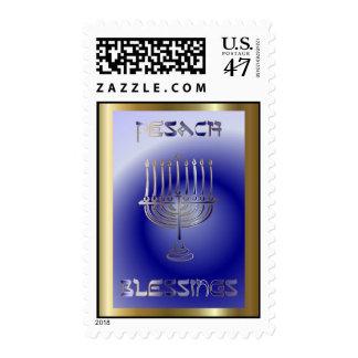Día de fiesta judío del Passover de Pesach Sello Postal
