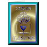 Día de fiesta judío del Passover de Pesach Felicitación