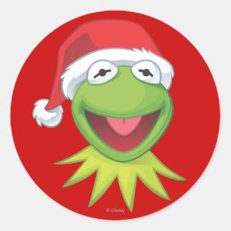 Día de fiesta Kermit 2 Etiquetas Redondas