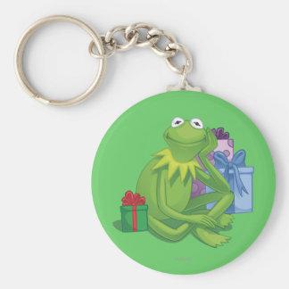Día de fiesta Kermit 3 Llavero Redondo Tipo Pin