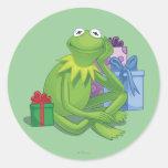 Día de fiesta Kermit 3 Pegatina Redonda