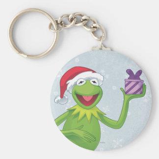 Día de fiesta Kermit Llavero Redondo Tipo Pin