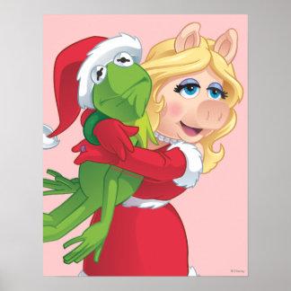 Día de fiesta Kermit y Srta. Piggy Póster