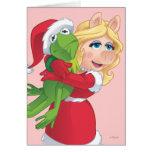Día de fiesta Kermit y Srta. Piggy Tarjetas