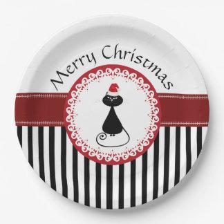Día de fiesta lindo de moda divertido del navidad platos de papel