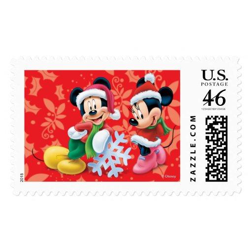 Día de fiesta Mickey y Minnie Sello