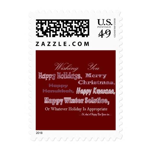 Día de fiesta multi blanco rojo timbres postales