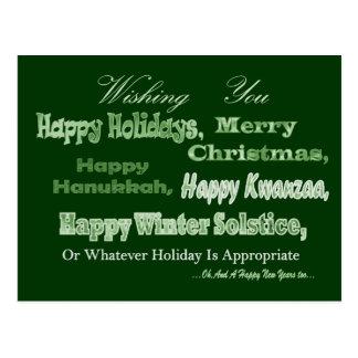 día de fiesta multi blanco verde postales