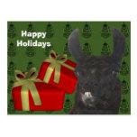Día de fiesta negro del navidad del animal del cam postal