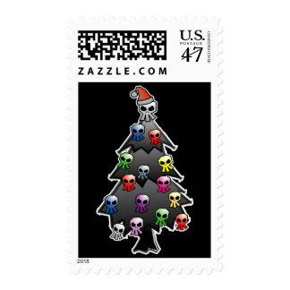 Día de fiesta negro timbre postal