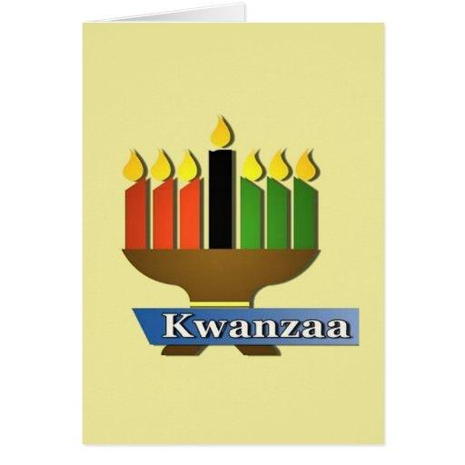 Día de fiesta Notecards de Gelukkig Kwanzaa Felicitaciones