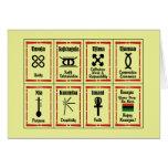 Día de fiesta Notecards de Kwanzaa de 7 principios Tarjetón