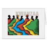 Día de fiesta Notecards de Kwanzaa del arco iris Tarjeta
