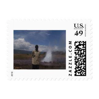 Día de fiesta para el papá sello postal