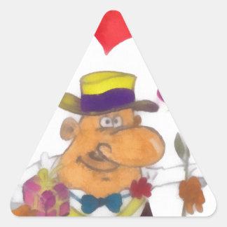 Día de fiesta calcomania de triangulo personalizadas