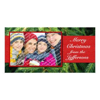 Día de fiesta personalizado de Navidad de las Tarjetas Fotograficas Personalizadas