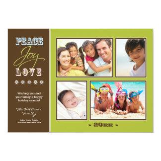 """Día de fiesta Photocard (aceituna) de la familia Invitación 5"""" X 7"""""""
