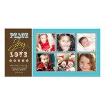 Día de fiesta Photocard (aguamarina) de la familia Tarjetas Personales
