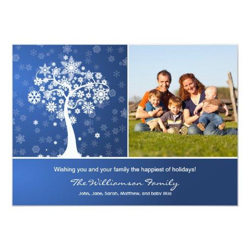 """Día de fiesta Photocard de la familia del árbol Invitación 5"""" X 7"""""""