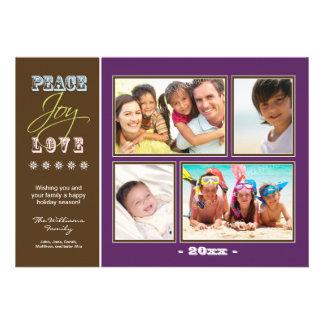 Día de fiesta Photocard de la familia del Paz-Aleg Comunicado Personal