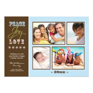 Día de fiesta Photocard de la familia del Paz-Aleg Invitacion Personalizada