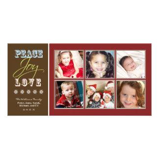Día de fiesta Photocard de la familia del Tarjeta Con Foto Personalizada