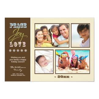 """Día de fiesta Photocard (marfil) de la familia del Invitación 5"""" X 7"""""""
