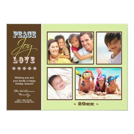 """Día de fiesta Photocard (menta) de la familia del Invitación 5"""" X 7"""""""