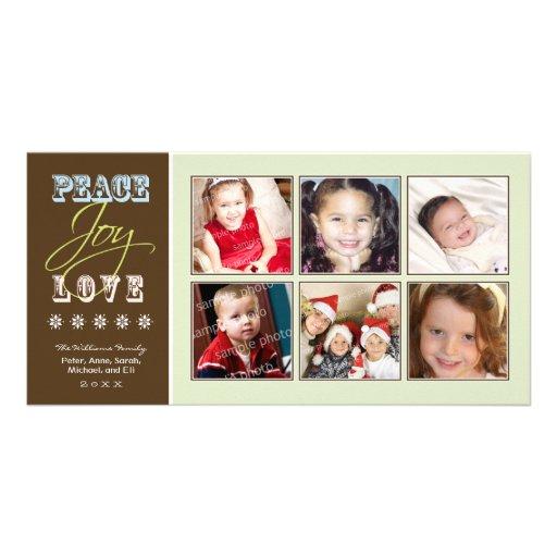 Día de fiesta Photocard (sabio) de la familia del  Tarjetas Fotográficas Personalizadas