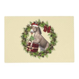 Día de fiesta Placemat de Santa del burro del Salvamanteles