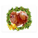 Día de fiesta Pomeranian Postal