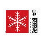Día de fiesta rojo del navidad del copo de nieve sellos