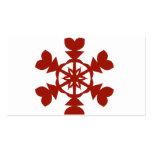 Día de fiesta rojo y blanco de los copos de nieve plantilla de tarjeta personal