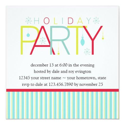 Día de fiesta rosado oscuro PartyInvitation de la Invitación 13,3 Cm X 13,3cm