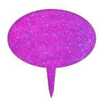 Día de fiesta rosado púrpura femenino del brillo figuras para tartas