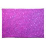 Día de fiesta rosado púrpura femenino del brillo mantel