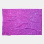 Día de fiesta rosado púrpura femenino del brillo toallas de mano