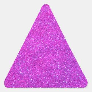 Día de fiesta rosado púrpura femenino del brillo pegatinas de triangulo