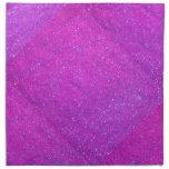 Día de fiesta rosado púrpura femenino del brillo servilletas imprimidas