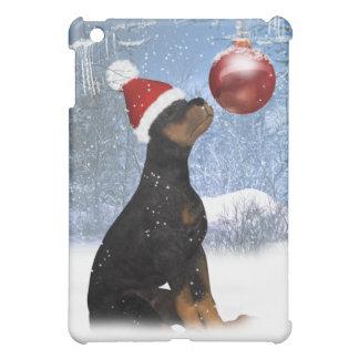 Día de fiesta Rottweiler con el ornamento - paisaj