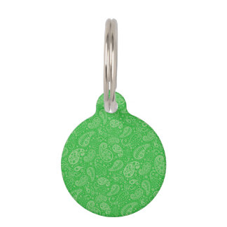 Día de fiesta verde Paisely Placa Para Mascotas