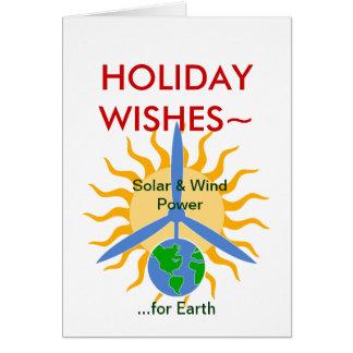 DÍA DE FIESTA WISHES~ Solar&WindPower Felicitacion