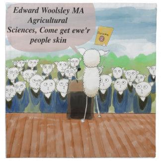 Día de graduación de las ovejas divertido servilletas imprimidas