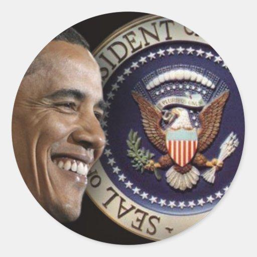 Día de inauguración de Obama Etiqueta Redonda